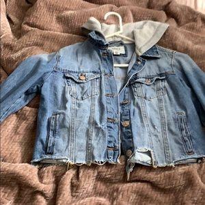 Jackets & Blazers - Forever 21 hooded denim jacket